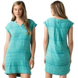 Prana Khai Retro Style V Neck Shirt Dress
